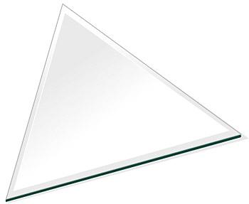 ミラー トレイ ミラー トレー 鏡 トレイ 鏡 トレー:クリアミラー(通常の鏡) トレイ 正三角形(250x217mm)(鏡トレイ 鏡トレー ミラートレイ ミラートレー ベーストレイ ディスプレイ トレー トレイ)