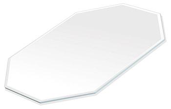 ミラー トレイ ミラー トレー 鏡 トレイ 鏡 トレー:スーパークリアミラー(高透過・超透明鏡)・トレイ・長八角形(130x180mm)(鏡トレイ 鏡トレー ミラートレイ ミラートレー ベーストレイ ディスプレイ トレー トレイ)