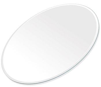ミラー トレイ ミラー トレー 鏡 トレイ 鏡 トレー:スーパークリアミラー(高透過・超透明鏡)・トレイ・楕円形(266x400mm)(鏡トレイ 鏡トレー ミラートレイ ミラートレー ベーストレイ ディスプレイ トレー トレイ)