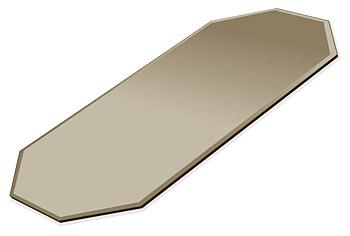 ミラー トレイ ミラー トレー 鏡 トレイ 鏡 トレー:ブロンズミラー(ブロンズ色の鏡) トレイ 長八角形(140x300mm)(鏡トレイ 鏡トレー ミラートレイ ミラートレー ベーストレイ ディスプレイ トレー トレイ)