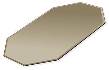 ミラー トレイ ミラー トレー 鏡 トレイ 鏡 トレー:ブロンズミラー(ブロンズ色の鏡) トレイ 長八角形(160x240mm)(鏡トレイ 鏡トレー ミラートレイ ミラートレー ベーストレイ ディスプレイ トレー トレイ)