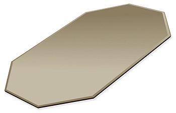 ミラー トレイ ミラー トレー 鏡 トレイ 鏡 トレー:ブロンズミラー(ブロンズ色の鏡)・トレイ・長八角形(200x300mm)(鏡トレイ 鏡トレー ミラートレイ ミラートレー ベーストレイ ディスプレイ トレー トレイ)