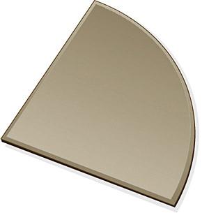 ミラー トレイ ミラー トレー 鏡 トレイ 鏡 トレー:ブロンズミラー(ブロンズ色の鏡)・トレイ・四分円(250x250mm)(鏡トレイ 鏡トレー ミラートレイ ミラートレー ベーストレイ ディスプレイ トレー トレイ)