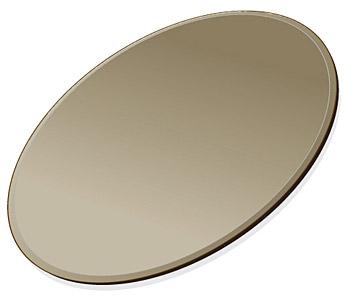 ミラー トレイ ミラー トレー 鏡 トレイ 鏡 トレー:ブロンズミラー(ブロンズ色の鏡) トレイ 楕円形(300x450mm)(鏡トレイ 鏡トレー ミラートレイ ミラートレー ベーストレイ ディスプレイ トレー トレイ)