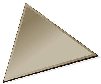 ミラー トレイ ミラー トレー 鏡 トレイ 鏡 トレー:ブロンズミラー(ブロンズ色の鏡)・トレイ・正三角形(150x130mm)(鏡トレイ 鏡トレー ミラートレイ ミラートレー ベーストレイ ディスプレイ トレー トレイ)