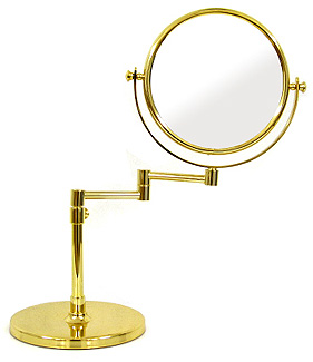 鏡 ミラー 拡大鏡 ウィンデイッシュ 両面鏡 卓上鏡 卓上ミラー スタンドミラー ミラースタンド スタンド メーキャップミラー 化粧鏡 コスメミラー:9d913d7GD(両面鏡 片面拡大鏡 3倍率)