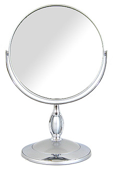Mirror Mirror Table Mirror Stand Mirror Makeup Mirror Makeup Mirror:B7/806  SV (both Mirrors On One Side Magnifying Glass 5 Magnification)