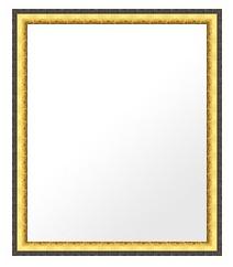鏡 ミラー 壁掛け鏡 ウォールミラー:lm513gb-w363mmxh465mmxd25mm-se