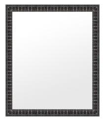 鏡 ミラー 壁掛け鏡 ウォールミラー:ms340bl-w359mmxh461mmxd32mm-se