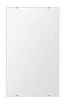 洗面鏡 浴室鏡 トイレ鏡 化粧鏡 日本製 四角形 380mmx640mm クリアーミラー シンプルタイプ 国産 フレームレスミラー 風呂 鏡 壁掛け鏡 壁掛けミラー ウオールミラー 姿見 姿見鏡 ミラー