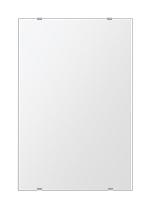 トイレ鏡 洗面鏡 化粧鏡 浴室鏡 クリスタルミラー シリーズ:b-cm-h-s-406mmx610mm(四角形)(クリアーミラー シンプルタイプ)( 鏡 壁掛け 鏡 姿見 壁掛けミラー ウォールミラー )