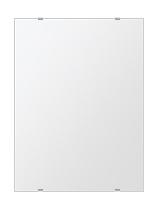 飛散防止加工 鏡 ミラー 安心 安全 クリスタルミラーシリーズ(一般空間用):i-cm-h-s-457mmx610mm-HS(四角形)(クリアーミラー シンプルタイプ)日本製 アイビーオリジナル 壁掛け鏡 ウォールミラー 姿見 鏡 専用取付金具付き