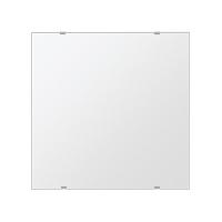鏡 壁掛け 鏡 ミラー 日本製 四角形 鏡 500mmx500mm クリアーミラー シンプルタイプ 国産 フレームレスミラー 壁掛け鏡 壁掛けミラー ウォールミラー 姿見 姿見鏡 インテリアミラー (リビング、玄関、廊下、寝室など一般空間用)