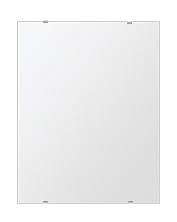 風呂 壁掛け鏡 浴室鏡 四角形 シンプルタイプ ウオールミラー 化粧鏡 鏡 ミラー 500mmx640mm 姿見 洗面鏡 クリアーミラー 日本製 国産 フレームレスミラー 姿見鏡 壁掛けミラー トイレ鏡