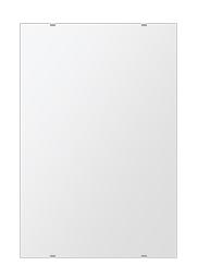 洗面 鏡 500x750mm 長方形 シンプルカット 洗面鏡 洗面台 鏡 洗面所 鏡 壁掛け ミラー 日本製 5mm厚 取付金具と説明書 壁掛け鏡 ウオールミラー 防湿鏡 姿見 鏡 全身 おしゃれ 軽量 角型 四角 四角形 鏡 防湿