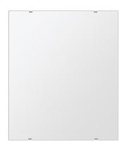 洗面鏡 浴室鏡 トイレ鏡 化粧鏡 日本製 四角形 549mmx649mm クリアーミラー シンプルタイプ 国産 フレームレスミラー 風呂 鏡 壁掛け鏡 壁掛けミラー ウオールミラー 姿見 姿見鏡 ミラー