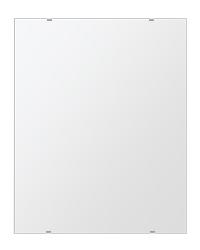 鏡 壁掛け 鏡 ミラー 日本製 四角形 鏡 608mmx760mm クリアーミラー シンプルタイプ 国産 フレームレスミラー 壁掛け鏡 壁掛けミラー ウォールミラー 姿見 姿見鏡 インテリアミラー (リビング、玄関、廊下、寝室など一般空間用)