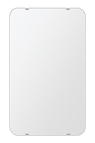 飛散防止加工 鏡 ミラー 安心 安全 クリスタルミラー シリーズ:b-cm-h-s-30r-380mmx640mm-HS(角丸四角形)(クリアーミラー 30R シンプルタイプ)日本製 アイビーオリジナル洗面 浴室 風呂 トイレ 水廻り 壁掛け 姿見 鏡 専用取付金具付き