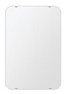 トイレ 鏡 406x610mm 角丸四角形 シンプルカット トイレ鏡 鏡 トイレ 壁掛け ミラー 壁掛け 日本製 5mm厚 取付金具と説明書 壁掛け鏡 壁に直付け ウオールミラー 姿見 鏡 全身 おしゃれ 軽量 角型 四角 四角形