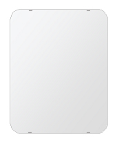 飛散防止加工 鏡 ミラー 安心 安全 クリスタルミラー シリーズ:b-cm-h-s-30r-500mmx640mm-HS(角丸四角形)(クリアーミラー 30R シンプルタイプ)日本製 アイビーオリジナル洗面 浴室 風呂 トイレ 水廻り 壁掛け 姿見 鏡 専用取付金具付き