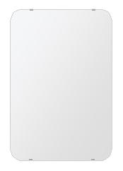 トイレ 鏡 506x760mm 角丸四角形 シンプルカット トイレ鏡 鏡 トイレ 壁掛け ミラー 壁掛け 日本製 5mm厚 取付金具と説明書 壁掛け鏡 壁に直付け ウオールミラー 姿見 鏡 全身 おしゃれ 軽量 角型 四角 四角形