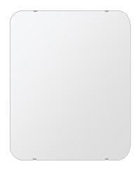 鏡 壁掛け 鏡 ミラー 日本製 角丸四角形 鏡 608mmx760mm クリアーミラー 30Rシンプルタイプ 国産 フレームレスミラー 壁掛け鏡 壁掛けミラー ウォールミラー 姿見 姿見鏡 インテリアミラー (リビング、玄関、廊下、寝室など一般空間用)