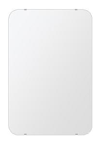 風呂 鏡 608x912mm 角丸四角形 シンプルカット お風呂 鏡 壁掛け ミラー 日本製 5mm厚 取付金具と説明書 壁掛け鏡 ウオールミラー 防湿鏡 姿見 全身 おしゃれ 軽量 角型 四角 四角形 鏡 防湿 バスミラー
