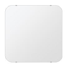鏡 壁掛け 鏡 ミラー 日本製 角丸四角形 鏡 650mmx650mm クリアーミラー 30Rシンプルタイプ 国産 フレームレスミラー 壁掛け鏡 壁掛けミラー ウォールミラー 姿見 姿見鏡 インテリアミラー (リビング、玄関、廊下、寝室など一般空間用)