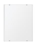 トイレ鏡 洗面鏡 化粧鏡 浴室鏡 クリスタルミラー シリーズ:b-cm-h-2m-400mmx500mm(長方形 正方形)(クリアーミラー 左右クリスタルカットタイプ)