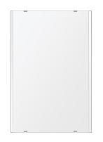 トイレ鏡 洗面鏡 化粧鏡 浴室鏡 クリスタルミラー シリーズ:b-cm-h-2m-406mmx610mm(長方形 正方形)(クリアーミラー 左右クリスタルカットタイプ)