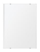 トイレ鏡 洗面鏡 化粧鏡 浴室鏡 クリスタルミラー シリーズ:b-cm-h-2m-455mmx608mm(長方形 正方形)(クリアーミラー 左右クリスタルカットタイプ)