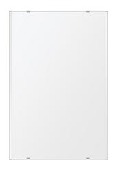 鏡 ミラー 壁掛け鏡 ウォールミラー クリスタルミラー シリーズ:i-cm-h-2m-506mmx760mm(長方形 正方形)(クリアーミラー 左右クリスタルカットタイプ)