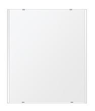 トイレ鏡 洗面鏡 化粧鏡 浴室鏡 クリスタルミラー シリーズ:b-cm-h-2m-549mmx649mm(長方形 正方形)(クリアーミラー 左右クリスタルカットタイプ)