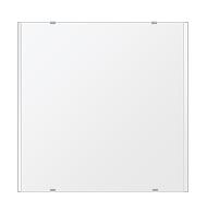 トイレ鏡 洗面鏡 化粧鏡 浴室鏡 クリスタルミラー シリーズ:b-cm-h-2m-550mmx550mm(長方形 正方形)(クリアーミラー 左右クリスタルカットタイプ)