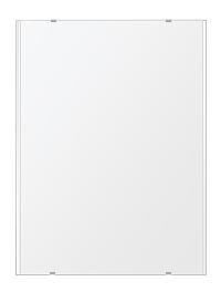 トイレ鏡 洗面鏡 化粧鏡 浴室鏡 クリスタルミラー シリーズ:b-cm-h-2m-608mmx811mm(長方形 正方形)(クリアーミラー 左右クリスタルカットタイプ)