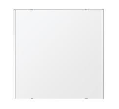 トイレ鏡 洗面鏡 化粧鏡 浴室鏡 クリスタルミラー シリーズ:b-cm-h-2m-650mmx650mm(長方形 正方形)(クリアーミラー 左右クリスタルカットタイプ)
