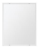 洗面鏡 浴室鏡 トイレ鏡 化粧鏡 日本製 四角形 406mmx610mm クリアーミラー クリスタルカット 国産 フレームレスミラー 風呂 鏡 壁掛け鏡 壁掛けミラー ウオールミラー 姿見 姿見鏡 ミラー
