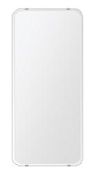 クリスタル ミラー 360x800mm 角丸四角形 クリスタルカット 鏡 壁掛け ミラー 壁掛け 日本製 5mm厚 玄関 リビング 寝室 トイレ 取付金具と説明書 壁掛け鏡 壁に直付け ウオールミラー 姿見 全身 おしゃれ 軽量 角型 四角 四角形