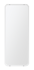 飛散防止加工 鏡 ミラー 安心 安全 クリスタルミラー シリーズ:b-cm-h-4m-30r-360mmx900mm-HS(角丸四角形)(クリアーミラー 30R クリスタルカットタイプ)日本製 アイビーオリジナル洗面 浴室 風呂 トイレ 水廻り 壁掛け 姿見 鏡 専用取付金具付き