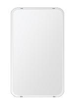 クリスタル ミラー 380x640mm 角丸四角形 クリスタルカット 鏡 壁掛け ミラー 壁掛け 日本製 5mm厚 玄関 リビング 寝室 トイレ 取付金具と説明書 壁掛け鏡 壁に直付け ウオールミラー 姿見 全身 おしゃれ 軽量 角型 四角 四角形