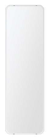 洗面鏡 浴室鏡 トイレ鏡 化粧鏡 日本製 角丸四角形 444mmx1494mm クリアーミラー 30Rクリスタルカット 国産 フレームレスミラー 風呂 鏡 壁掛け鏡 壁掛けミラー ウオールミラー 姿見 姿見鏡 ミラー