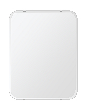 飛散防止加工 鏡 ミラー 安心 安全 クリスタルミラーシリーズ(一般空間用):i-cm-h-4m-30r-500mmx640mm-HS(角丸四角形)(クリアーミラー 30Rクリスタルカットタイプ)日本製 アイビーオリジナル 壁掛け鏡 ウォールミラー 姿見 鏡