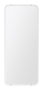 クリスタル ミラー 洗面鏡 浴室鏡 500x1180mm 角丸四角形 クリスタルカット 洗面 鏡 浴室 壁掛け ミラー 日本製 5mm厚 取付金具と説明書 壁掛け鏡 ウオールミラー 防湿鏡 姿見 全身 おしゃれ 軽量 角型 四角 四角形 洗面台 防湿 お風呂
