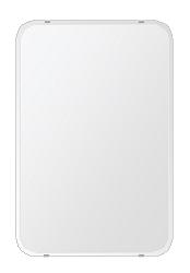 クリスタル ミラー 506x760mm 角丸四角形 クリスタルカット 鏡 壁掛け ミラー 壁掛け 日本製 5mm厚 玄関 リビング 寝室 トイレ 取付金具と説明書 壁掛け鏡 壁に直付け ウオールミラー 姿見 全身 おしゃれ 軽量 角型 四角 四角形