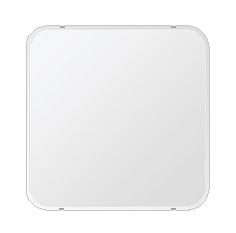鏡 壁掛け 鏡 ミラー 日本製 角丸四角形 鏡 650mmx650mm クリアーミラー 30Rクリスタルカット 国産 フレームレスミラー 壁掛け鏡 壁掛けミラー ウォールミラー 姿見 姿見鏡 インテリアミラー (リビング、玄関、廊下、寝室など一般空間用)