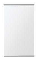 飛散防止加工 鏡 ミラー 安心 安全 クリスタルミラー シリーズ:b-cm-h-s-2f-w380mmxh640mm-HS(長方形 正方形)(クリアーミラー 上下2方フレームタイプ)日本製 アイビーオリジナル洗面 浴室 風呂 トイレ 水廻り 壁掛け 姿見 鏡 専用取付金具付き