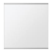 飛散防止加工 鏡 ミラー 安心 安全 クリスタルミラー シリーズ:b-cm-h-s-2f-w500mmxh500mm-HS(長方形 正方形)(クリアーミラー 上下2方フレームタイプ)日本製 アイビーオリジナル洗面 浴室 風呂 トイレ 水廻り 壁掛け 姿見 鏡 専用取付金具付き