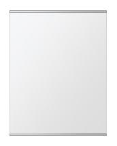 クリスタル ミラー 上下フレーム w500mmxh600mm 長方形 鏡 壁掛け ミラー 壁掛け 日本製 5mm厚 玄関 リビング 寝室 トイレ 取付金具と説明書 壁に直付け 壁掛けミラー ウオールミラー 姿見 全身 おしゃれ 軽量 角型 四角 四角形
