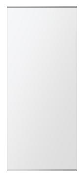 鏡 ミラー 壁掛け鏡 ウォールミラー ステンフレーム シリーズ(一般空間用):i-cm-h-s-2f-w500mmxh1180mm(四角形)(クリアーミラー 上下2方フレームタイプ)( 壁掛け 姿見 ステンレス フレームミラー )