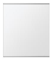鏡 ミラー 壁掛け鏡 ウォールミラー ステンフレーム シリーズ(一般空間用):i-cm-h-s-2f-w549mmxh649mm(四角形)(クリアーミラー 上下2方フレームタイプ)( 壁掛け 姿見 ステンレス フレームミラー )